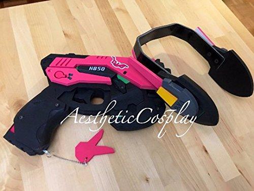 AestheticCosplay's Overwatch D.Va Cosplay Costume FULL Set Prop Gun & Headset Medium by AestheticCosplay (Image #4)