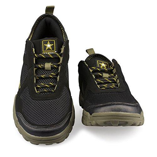 Ons Leger Heren Sprawl Kunstleer En Mesh Wandelaar Sneaker Zwart