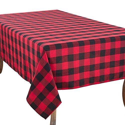 - SARO LIFESTYLE Cotton Blend Buffalo Plaid Tablecloth 70