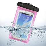 Waterproof Case,Asstar Universal Waterproof Case for Apple iPhone 6S, 6, 6S Plus, 5S, Galaxy S7, S6 Note 5, HTC, LG, Motorola up to 5.5 inch and Card, Passport, Wallet (Rose )