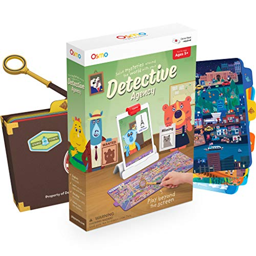 Osmo – Detective Agency – Ages 5-12 – Solve Global Mysteries – STEM Toy – For iPad or Fire Tablet (Osmo Base Required)