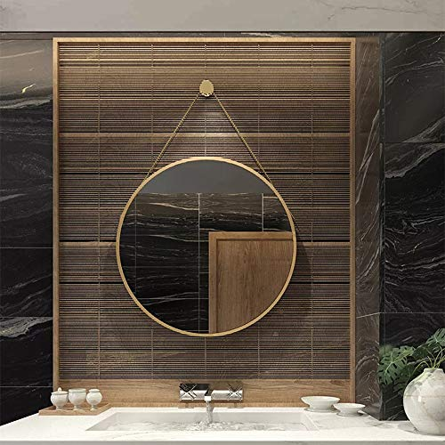 Mirror CAICOLOR Nordic Bathroom Wrought Iron Dressing Makeup Round Fittings Creative (Size : 40cm) by Mirror (Image #2)