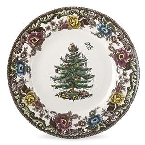 Amazon.com | Spode Christmas Tree Grove Dinner Plate, Set ...