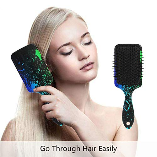 Detangling-Hairbrush, Neon Colors Rock Boar bristle Hair Brushes with Nylon Ball-tipped & Air Cushion Plastic Comb for Anti Static & Frizz,Womens/Girls Hair Brush