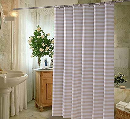 Image Unavailable Not Available For Color Horizontal Stripes Shower Curtain