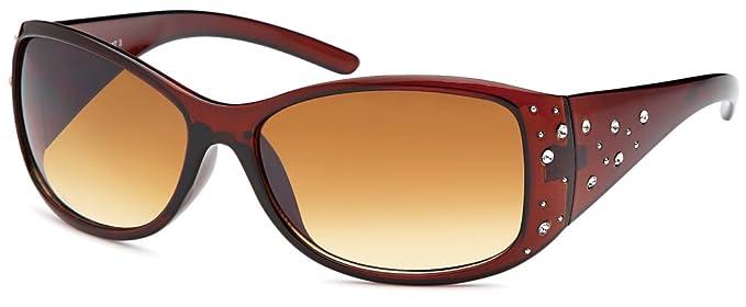 Unisex Sonnenbrille Monoscheibe mit verspiegelten Gläsern UV400 Filter- Im Set mit Etui (rubber touch orange) f0HRqU