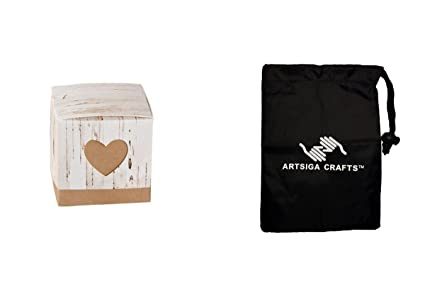 Amazon.com: Darice caja para regalo de boda rústico abedul ...
