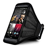 Sumaclife Workout Running Sports Gym Armband Case for HTC One M8 for Windows M8 Harman kardon Edition / HTC Desire 612 / One E8 (Black)