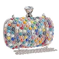 Women's Multicolor Crystal Rhinestone Clutch