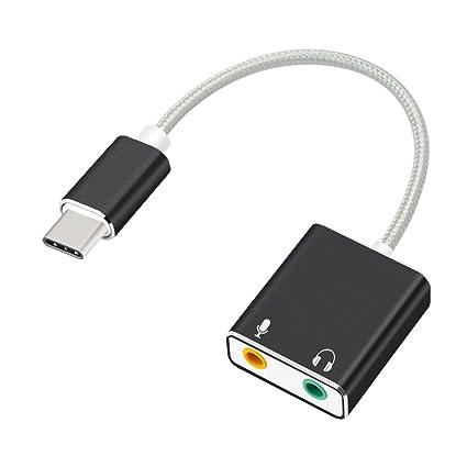 AUSWAUR - Adaptador de Tarjeta de Sonido estéreo Externa USB ...