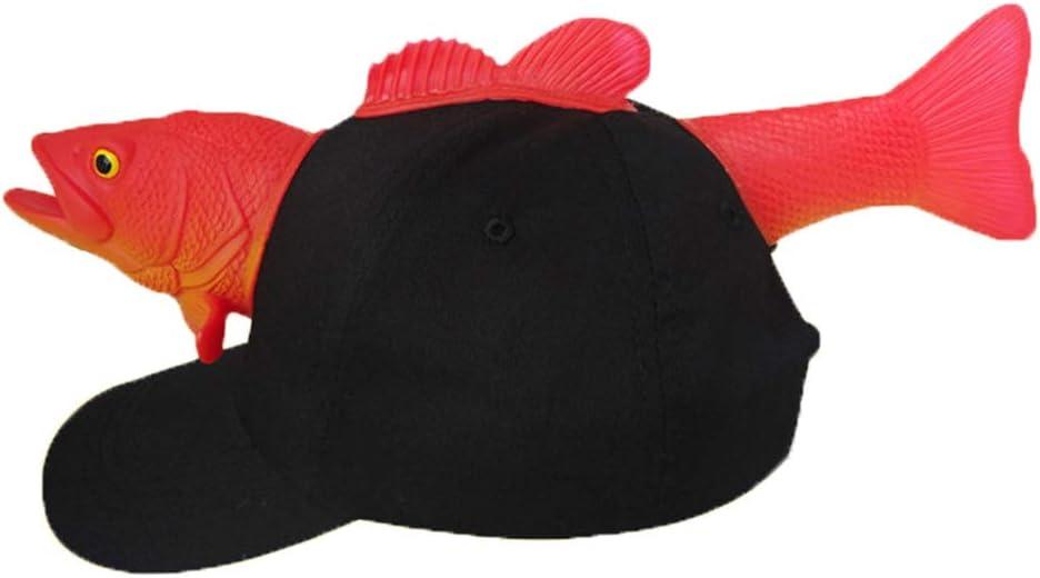 LYDIAMOON Boys Hats 3D Fish Anti-UV Baseball Caps Girl Summer Sun Sports Outdoor Adjustable Birthday Gift Black