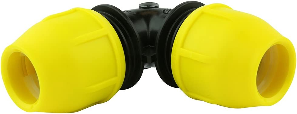 Underground IPS Yellow Poly Gas Pipe 90 Degree Elbow (1/2)