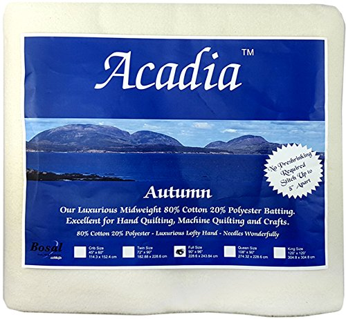 Bosal 3509-03 | Acadia Cotton Polyester Batting | 228.6x243.8cm by Acadia