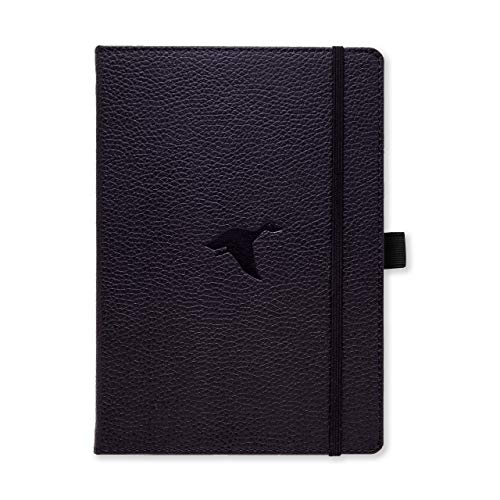 Dingbats Wildlife Medium A5+ Hardcover Notebook - PU Leather, Micro-Perforated 100gsm Cream Pages, Inner Pocket, Elastic Closure, Pen Holder, Bookmark (Lined, Black Duck)