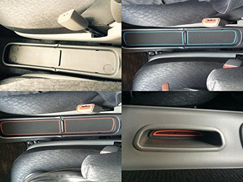 KINMEI Toyota Sienta SIENTA white NSP140 NCP141 system specially designed interior door pocket mat drink holder slip non-slip storage space protection rubber mats TOYOTAk-10 by KINMEI (Image #1)