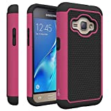 Samsung Galaxy Express 3 Case, CoverON [HexaGuard Series] Slim Hybrid Hard Phone Cover Case for Samsung Galaxy Express 3 - Hot Pink / Black