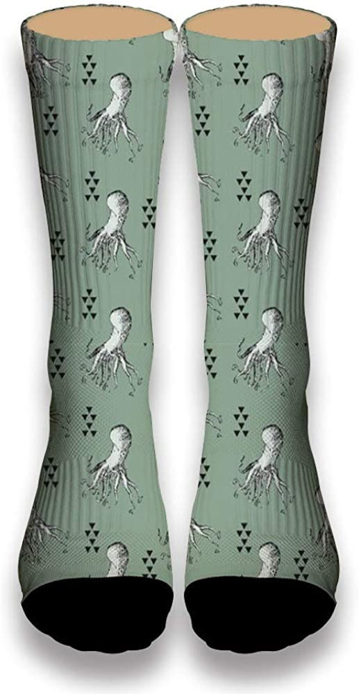 All Kinds of White Squid AlyGoo 3D Print Funny Custom Crew Casual Socks