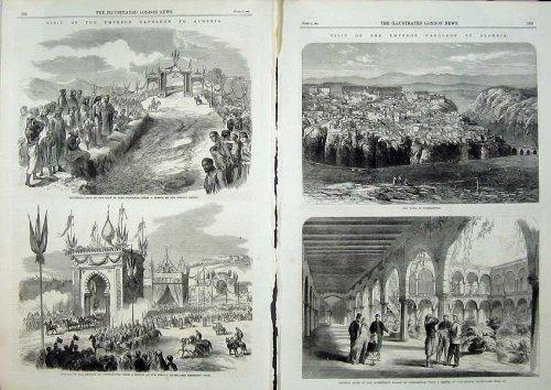 Print Napoleon 1865 Constantine Palace Triumphal Architecture Army 505