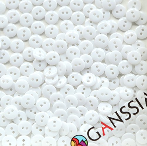 GANSSIA Small Sewing Flatback Buttons product image