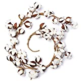 Factory Direct Craft Artificial Cotton Boll Garland for Indoor Home Decor