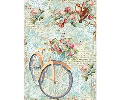 A4 Hobby Colors Rice Paper Round and Flowers Stamperia Decoupage Rice Papers