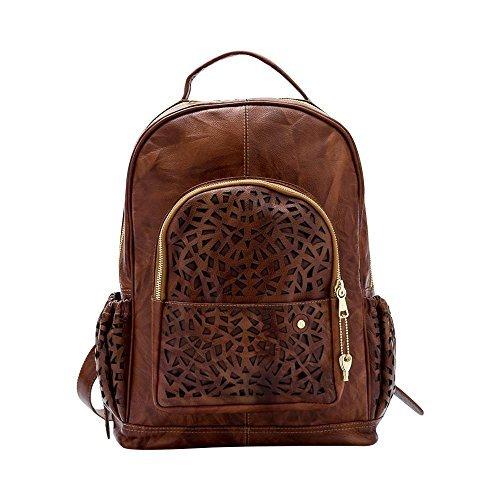 Gaspy Alex Women's Backpack,100 Percent Colombian Leather (Honey) [並行輸入品] B0793TJMTJ