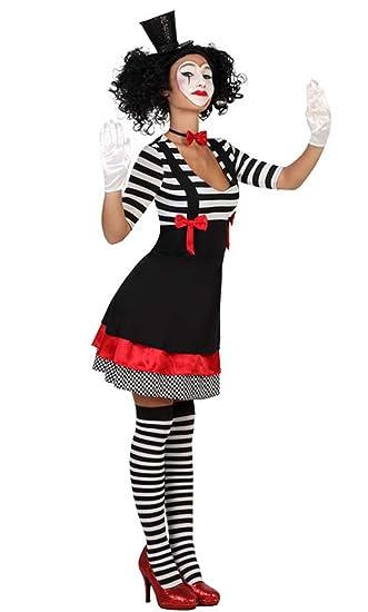 Clown Kostüm Harlekin Pantomime Kleid, Größe XS/S: Amazon.de: Spielzeug