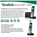 Yealink W56P + W56H Cordless VoIP Phone PoE HD Voice and Base Unit, USB Charge