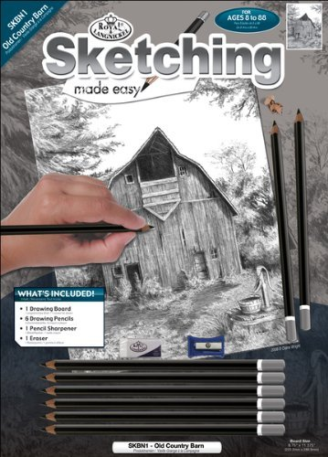 "Royal Brush - Sketching Made Easy Kit 8.75""X11.375""-Old Country"