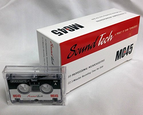 SoundTech MC45 Microcassette Tapes Replacement for Sony Olympus Maxell Micro Cassette