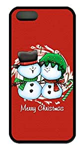iPhone 5 Case, iPhone 5S Case, Personalize Happy Merry Christmas Lovers Protective Soft Rubber TPU Black Case Cover [Scratch-Resistant] Bumper Case for Apple iPhone 5 5S