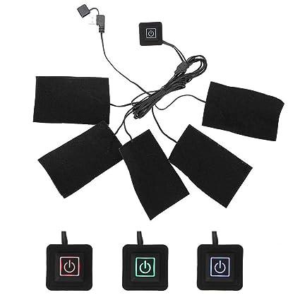 USB Toalla Calefacción para chaleco calefactables, eléctrica Ropa Cinco Calefacción Cojín Resistencia Temperatura Regulable calentador
