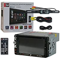 Dual XDVD256BT Car audio Double Din 2DIN 6.2 LCD Touchscreen DVD MP3 CD stereo built-in Bluetooth + Remote & DCO Waterproof Backup Camera with Nightvision
