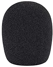 Neewer Ball Type Foam Windscreen Pop Filter for Condenser Microphone,1.8″ x 1.8″ x 2.75″/ 4.5cm x 4.5cm x 7cm, Black