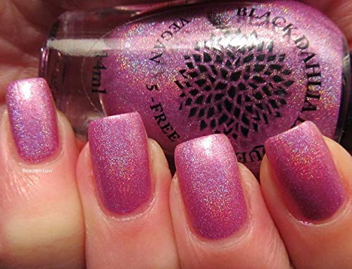 Wild Orchid | Magenta Pink Holo Nail Polish with Red & Copper Shimmer | By Black Dahlia Lacquer