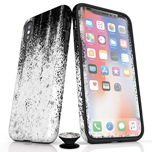 Phone Accessory Bundle for iPhone X/XS - Screen Protector, iPhone Case, and Cell Phone Grip with Degenerate Design