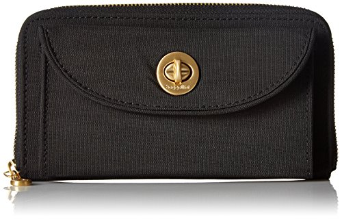 - Baggallini Gold International Kyoto Rfid BLK Wallet, Black, One Size