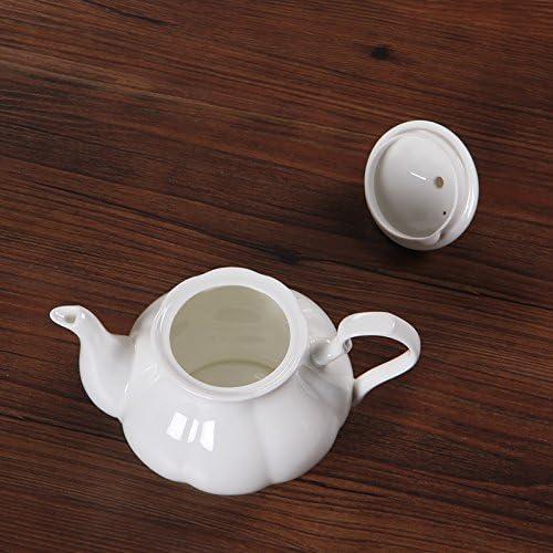 Dana Carrie La cerámica blanca simple cafetera tetera pava jarra ...