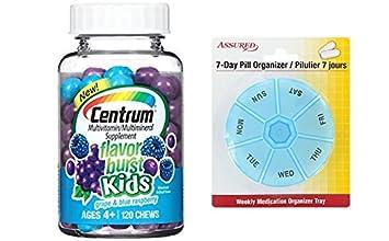 Suplemento de multivitaminas/multiminerales explosión Centrum niños sabor (uva y azul frambueso sabor,