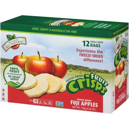 Brothers-All-Natural Fruit Crisp Fuji Apples 12 Half Cup Bags 10 g Each (Pack Of 2) by Brothers-ALL-Natural (Image #3)