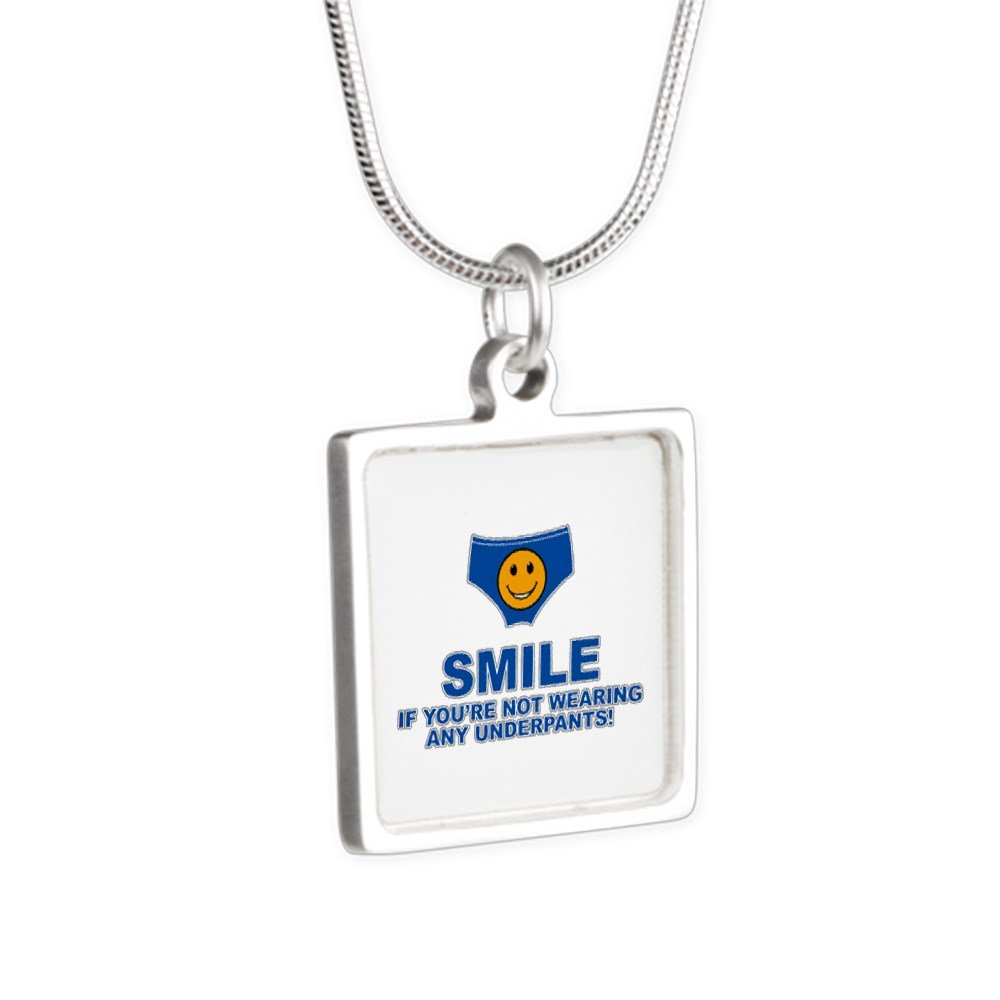 Royal Lion Silver Square Necklace Smile If Not Wearing Underwear