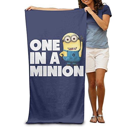 LCYC One In A Minion Adult Vibrant Beach Or Pool Hooded Towel 80cm*130cm (Minions Movie: Minion Kevin Adult Costume)