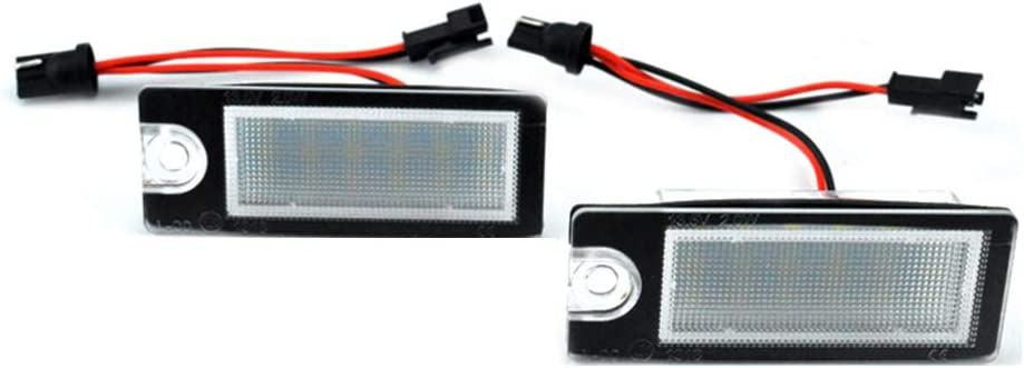 Royalr 1 Pair Automobile LED License Plate plate light Car accessory Light Accessory Replacement for V70//CX70//S60//S80//XC90
