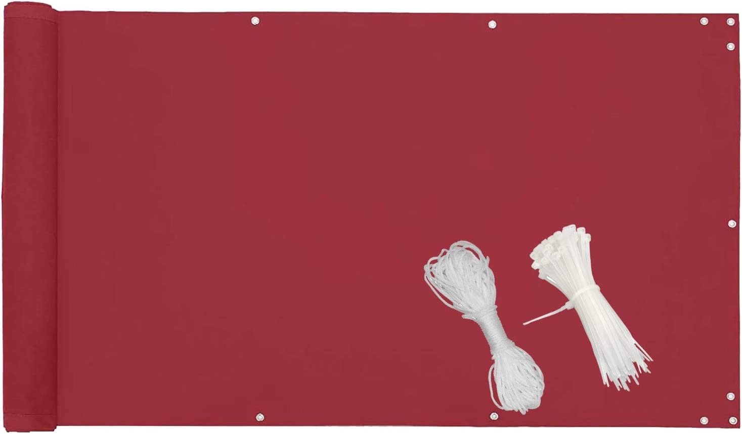 Opaque imperm/éable /à leau Diverses Couleurs Et Diverses Tailles Au Choix avec Liens Plastiques et la Corde Aussi-Rouge MODKOY Brise Vue Tissu 50x300cm