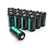 CR123A Lithium Batteries [Upgraded] RAVPower 3V Lithium Battery Non-Rechargeable, 16-Pack, 1500mAh Each, 10 Years of Shelf Life for Arlo Cameras, Polaroid, Flashlight, Microphones and More