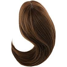 Jili Online Fashion Dolls Wigs DIY Hair Hairpiece for 18 Inch American Girl Doll Accss Dark Brown