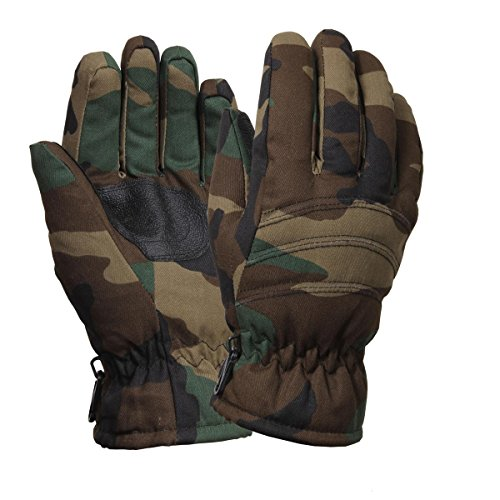 Rothco Insulated Hunting Gloves, Woodland Camo, Small