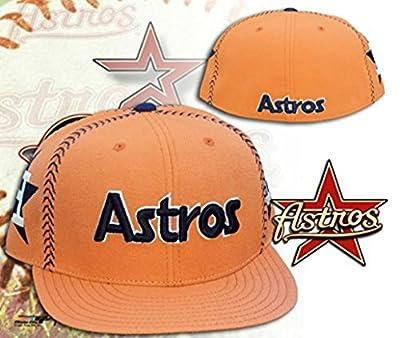 Houston Astros STRIKE Orange Fitted Hat Cap Size 7 3/4