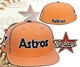 Houston Astros STRIKE Orange Fitted Hat Cap Size 7 1/2