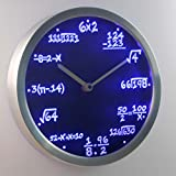 Lightinthebox nc0461 Math Class Algebra Formula Mathematics Teacher gift Neon LED Wall Clock Home Decor Design Wall Clocks Color=Blue